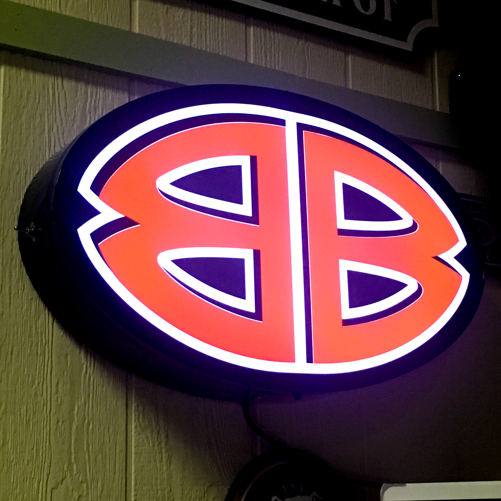 Double B LED Backlit Sign