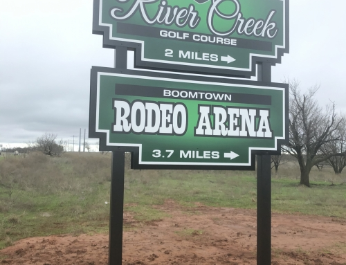 Golf Course & Rodeo Arena Sign